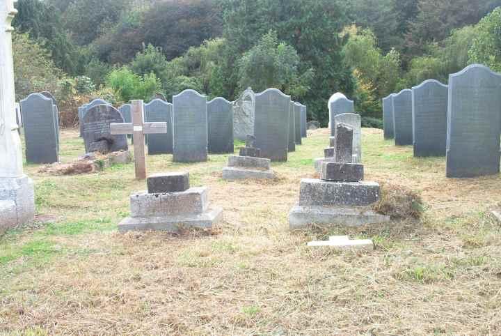 Some of the broken memorials.