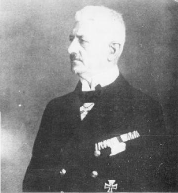 Rear Admiral Ludwick von Reuter, Commander of the German High Seas Fleet.