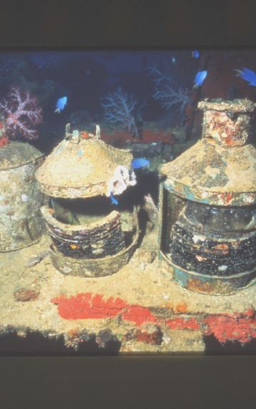 Lanterns, just some of the many artifacts on the wrecks.