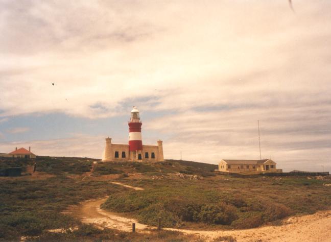 The Cape Agullas Lighthouse.