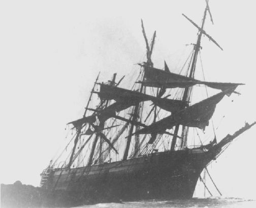 The wreck of the Andromeda.