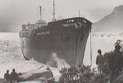 The wreck of the Antipolis.