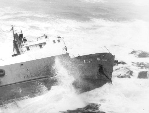 The Ben Asdale two days after she struck.