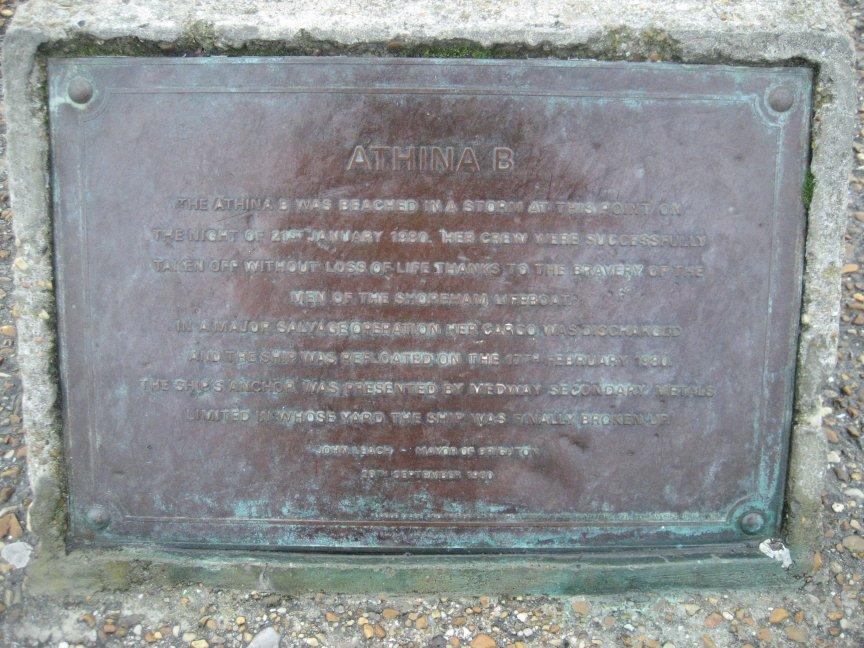 Comemmorative plaque.