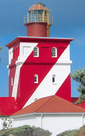 The Mouille Point Lighthouse.