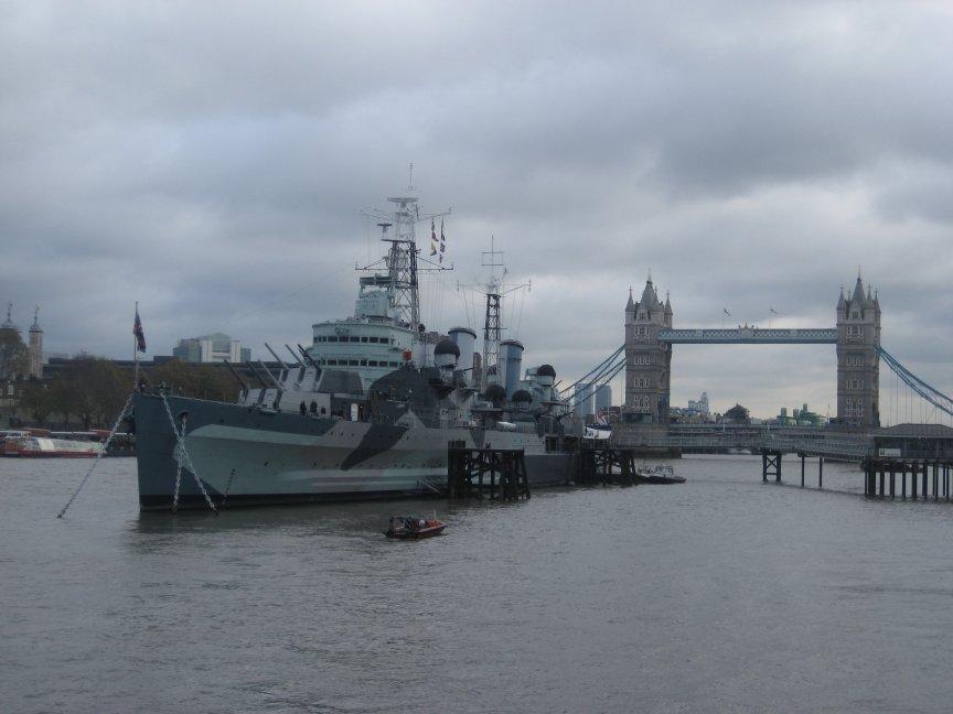 H.M.S.Belfast at Tower Bridge