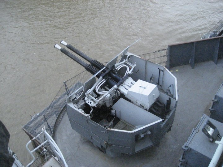 Anti aircraft guns.