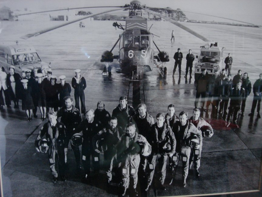 Photo 691 shows the naval aircrews and ground crews plus supporting station emergency personnel on SAR duty at RNAS Culdrose over the Christmas and New Year period in 1978/79, heroes everyone of them.