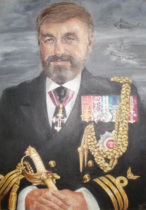 Portrait of Commander Mike Norman. O.B.E., A.F.C., R.N.