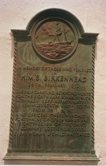 The Birkenhead Memorial.