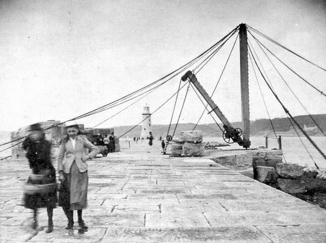 People used to be allowed to walk on the Breakwater.