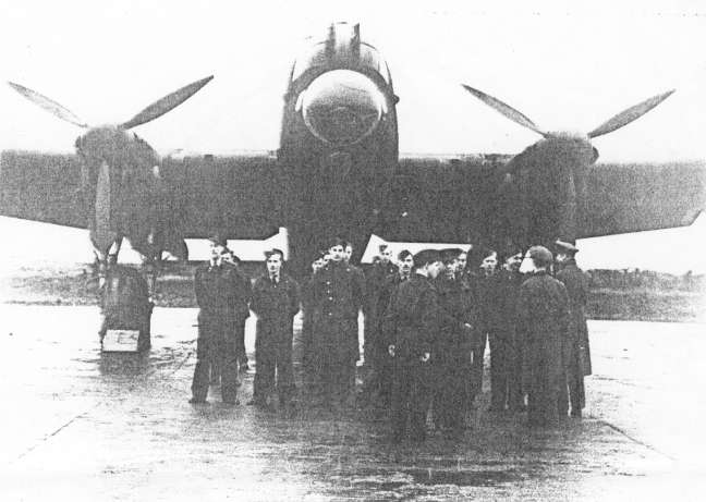 49 Squadron with their Lancaster bomber.