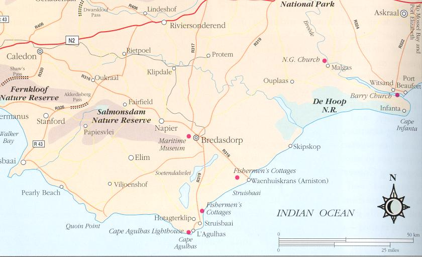 Directions to the Bredasdorp Shipwreck Museam.