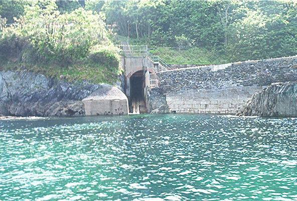 Pier Cellars showing the sloping ramp used to launch the Torpedo.