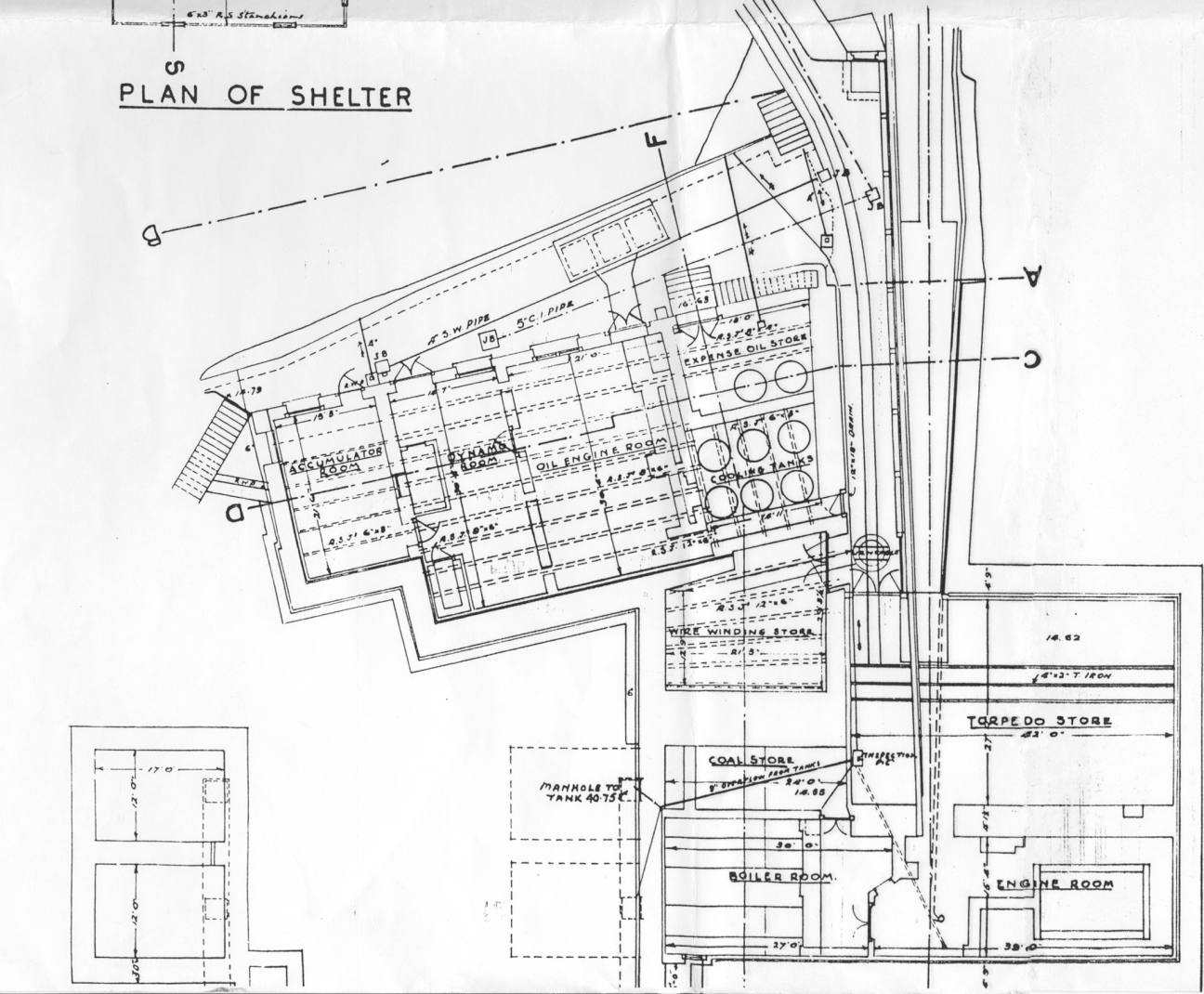 Plan of Pier Cellars.