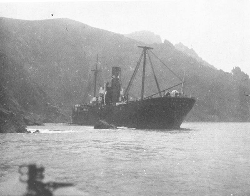 Stern view of the Cantabria.