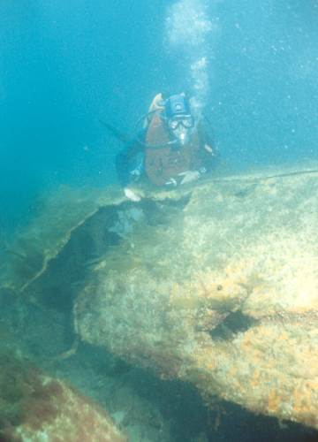 Part of the mid section of the wreck.