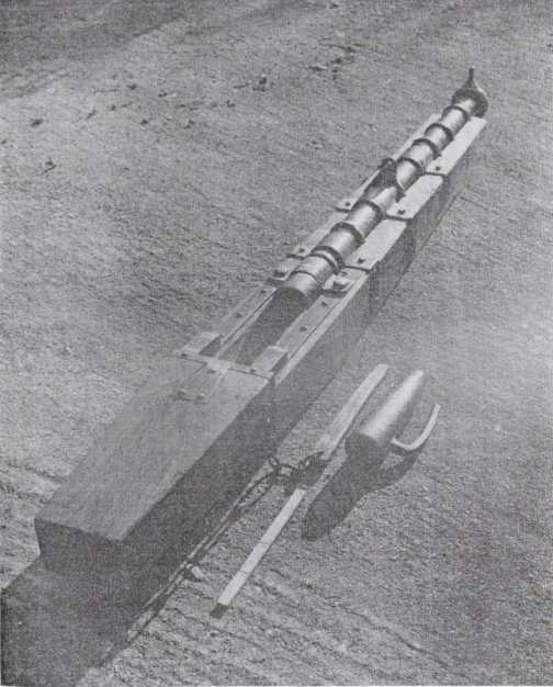 Diagram of one of the A mock up of one of the guns by A.Carpenter.