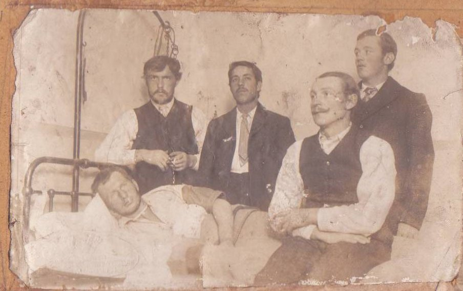 In the Hospital. Joseph Cauchi is second from the left (standing).