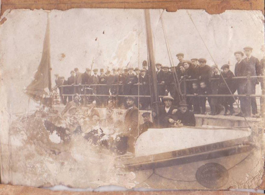 The lifeboat that saved them.