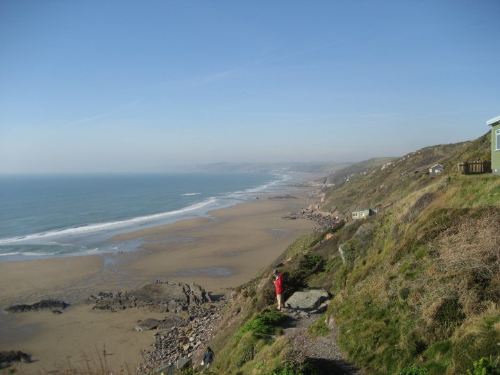 Looking back to Withnoe Point.