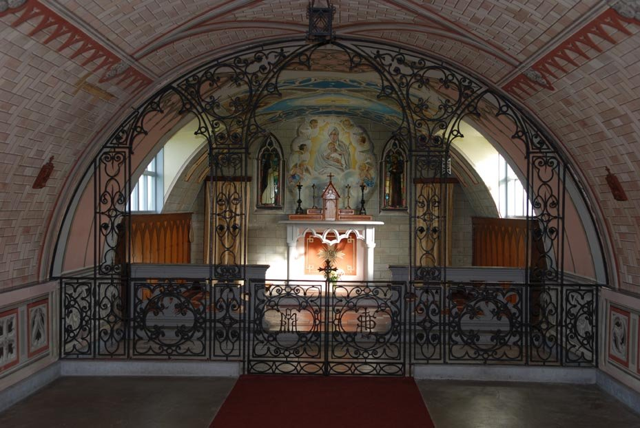 The inside of the Chapel showing the altar painting.Photo Peter Rowlands.