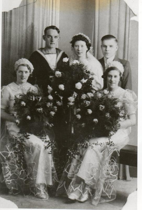 Cyril Cope on his wedding day.Photo Ron Cope.