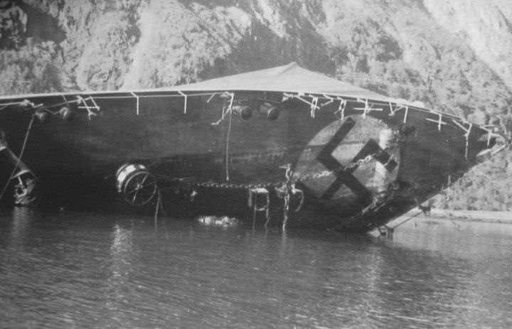 The Bernard Von Armin sunk in Rombaksfjord.