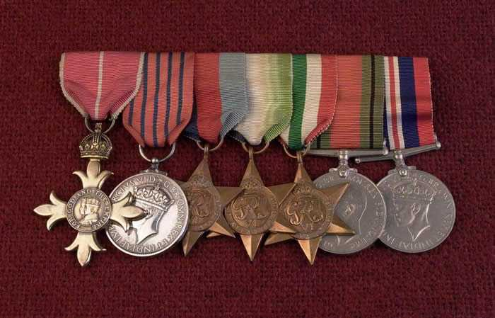 Crabb's other medals.