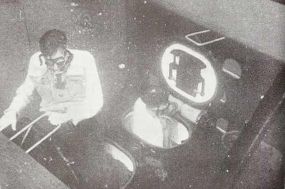 Davis Submersible Escape Apparatus.