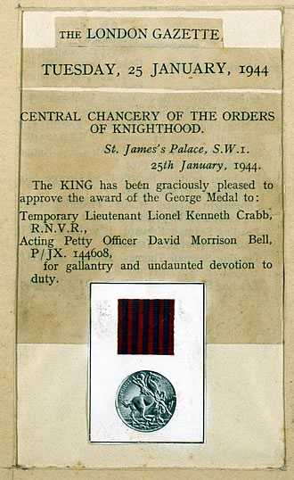 The George Medal.