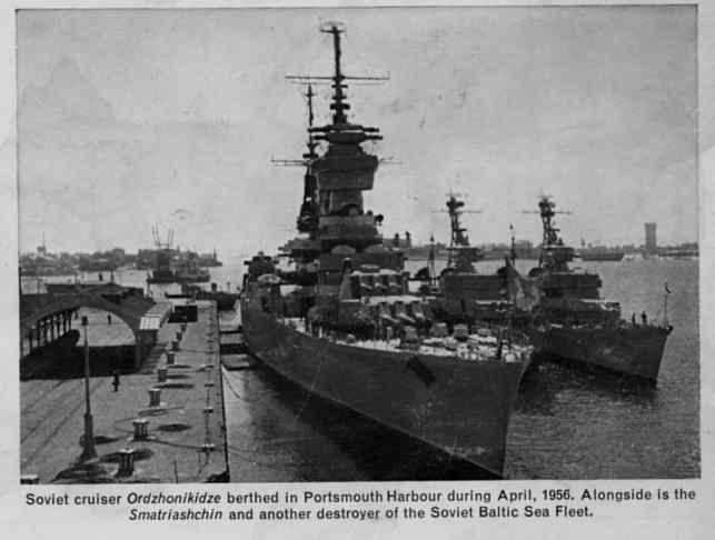The Ordzhonikidze at Portsmouth.
