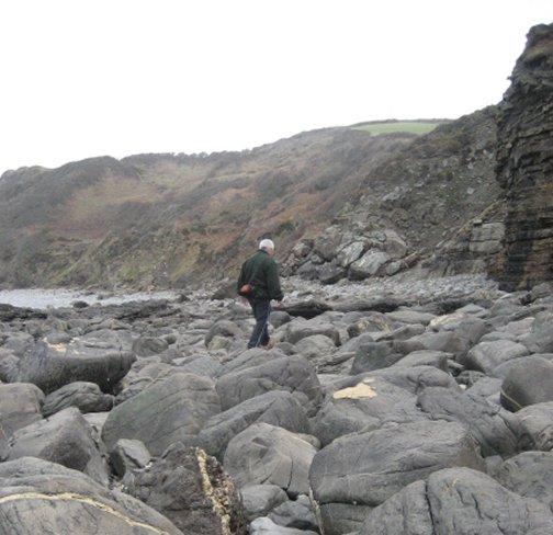 Big boulders make for tiring walks
