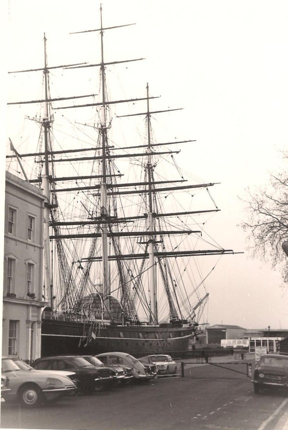 The Cutty sark in the 1980's