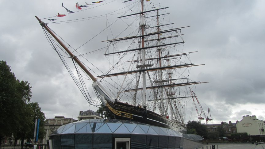 The Cutty Sark today, fully restored