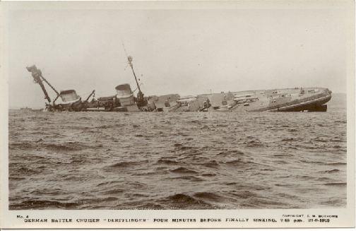 The Derflinger sinking.