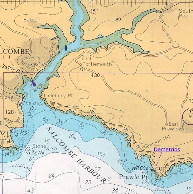 Location of the Demetrios.