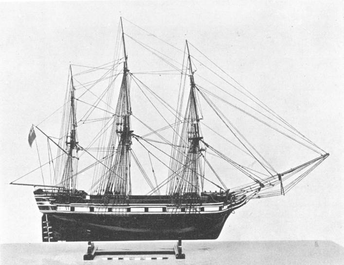 Model of an East Indiaman, slightly later than the Dragon.