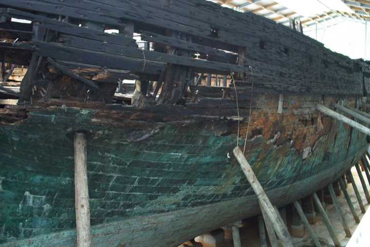 The hull needs a lot of work.