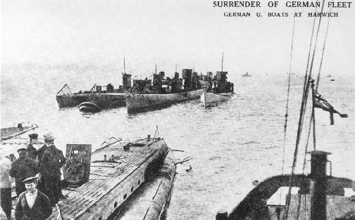 U. Boats at Harwich.