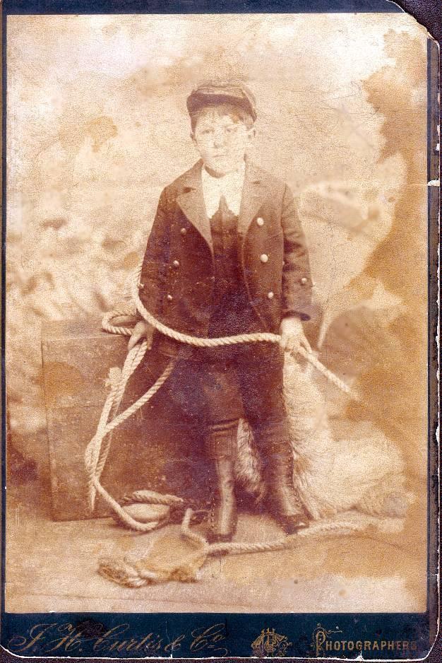 Captain Fowler as a boy.
