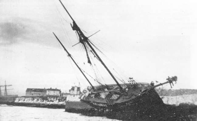Aground in the Cattewater.
