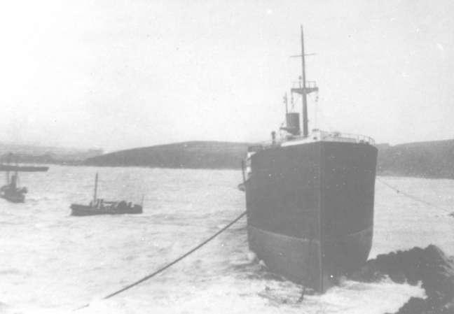 The Umberleigh aground at Bovisand.