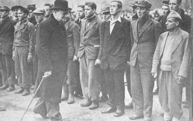 Churchill inspecting the' Hardy' Survivors at Horseguards Parade, see film below for more.