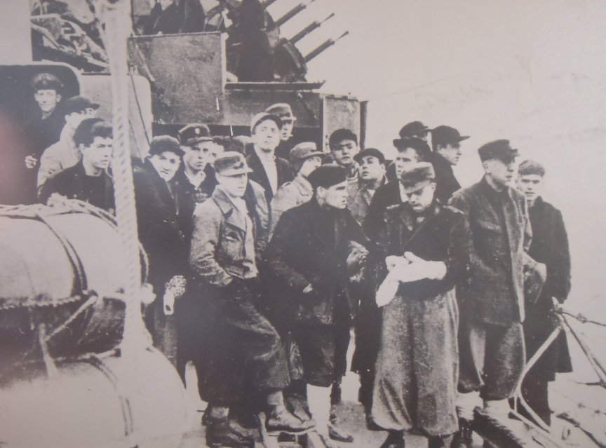 The survivors on Ivanhoe. Harry is furthest right. Photo Rogers family.