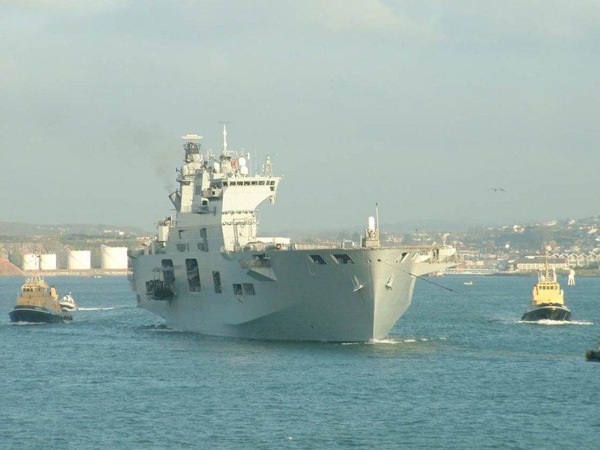 H.M.S. Ocean. Photo courtesy of Navy-Photos