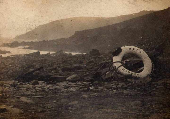 Wreckage scattered on the beach.  Photo Paul Thomas.