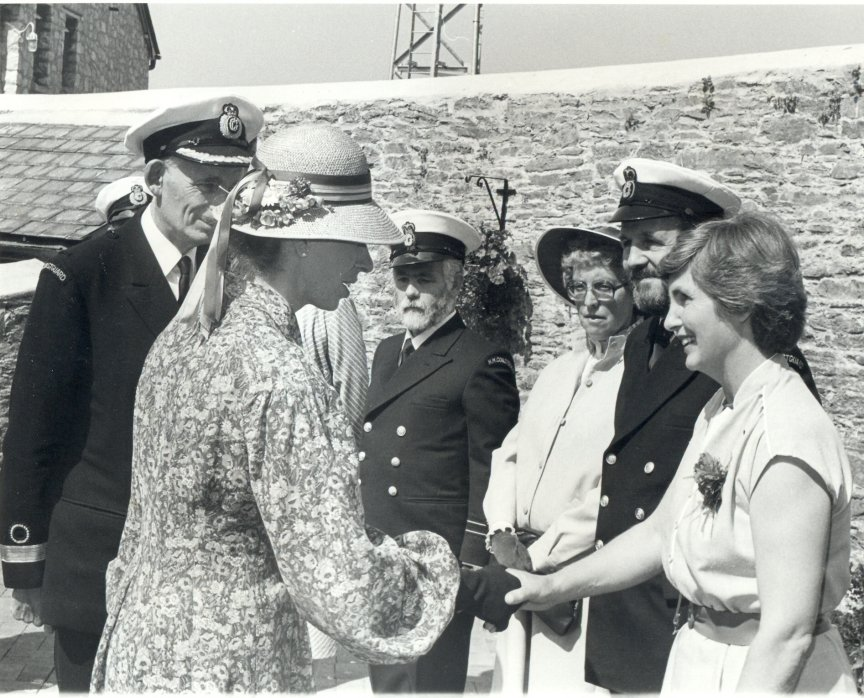Meeting H.R.H. Princess Anne at the station.