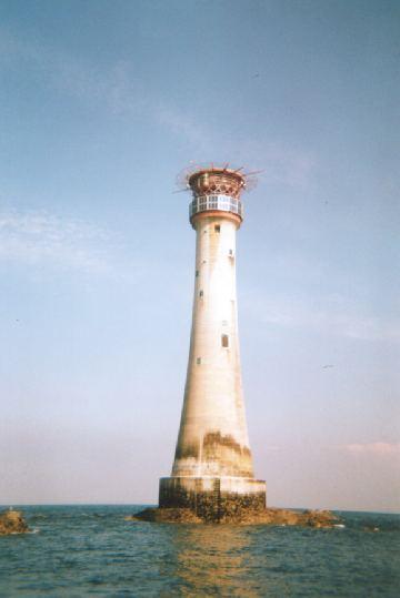 The Eddystone Lighthouse.