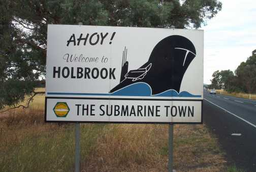 Sign at the entrance to Holbrook.